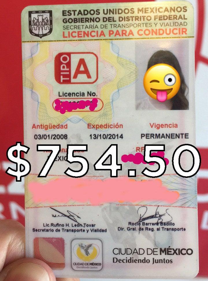 La licencia de manejo por la que antes pagabas $725.50 ahora cuesta...