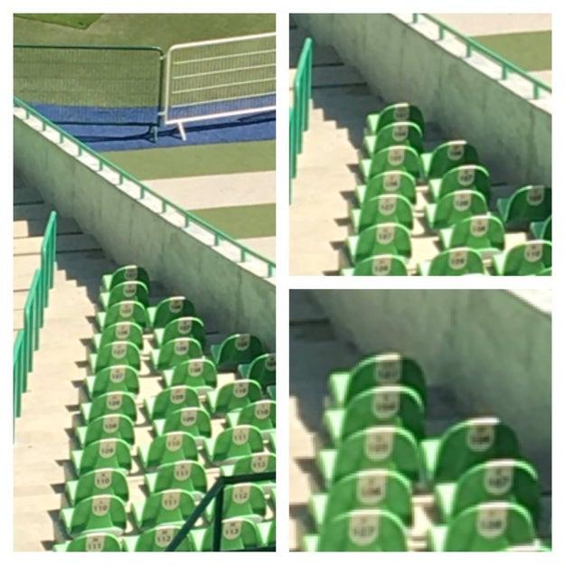 Cuando te sientas solo piensa que en este estadio hay dos personas que se van a sentar solas a ver el fut.