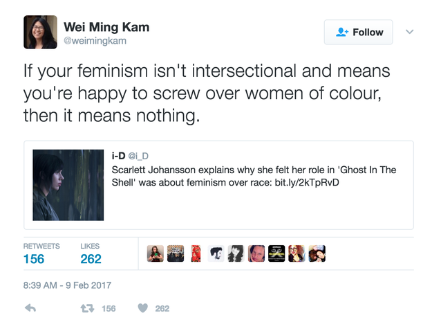 And how it overlooks not only the importance of intersectionality in feminism...
