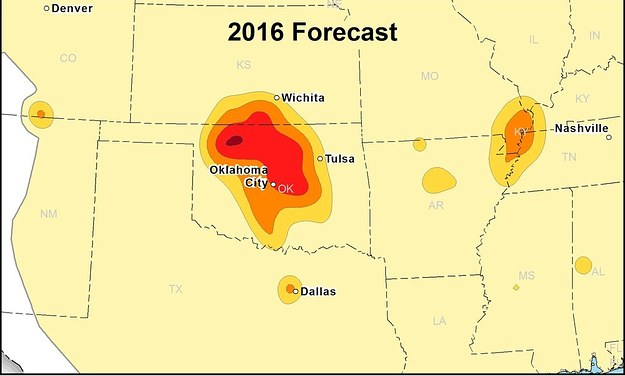 Fewer Okla., Kan. Residents Face Earthquake Risks From Wastewater