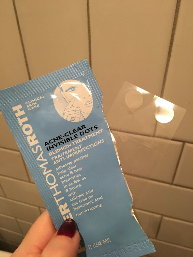 Peter Thomas Roth Acne-Clear Invisible Dots are magical translucent patches that reduce and flatten your pimples overnight so they have zero chance of ruining an important day.