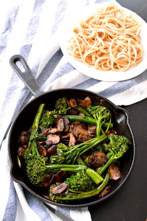 Broccolini Mushroom Stirfry