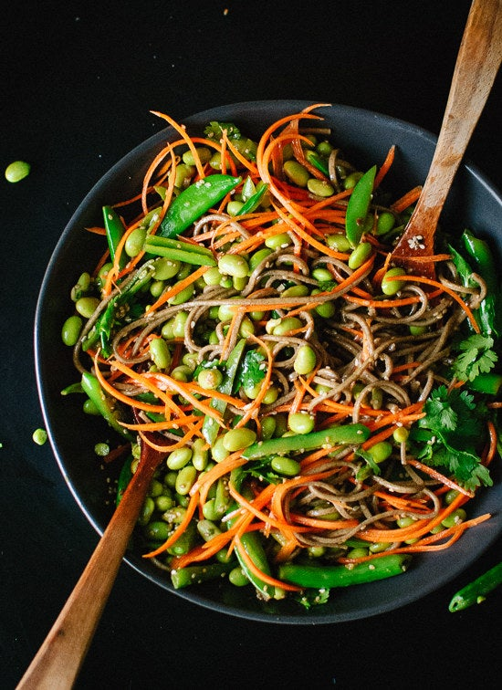 Just one cup of edamame will add a whopping 17 grams of protein — and the soba noodles kick that up even more. Recipe here.