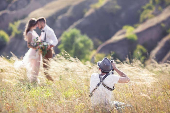 Everyone knows that wedding photographers cost $$$. One easy way to cut back on cost: have the photographer shoot for the most-jammed packed hours of the wedding instead of the entire event. Because do you really need 2,500 photos of your in-laws?