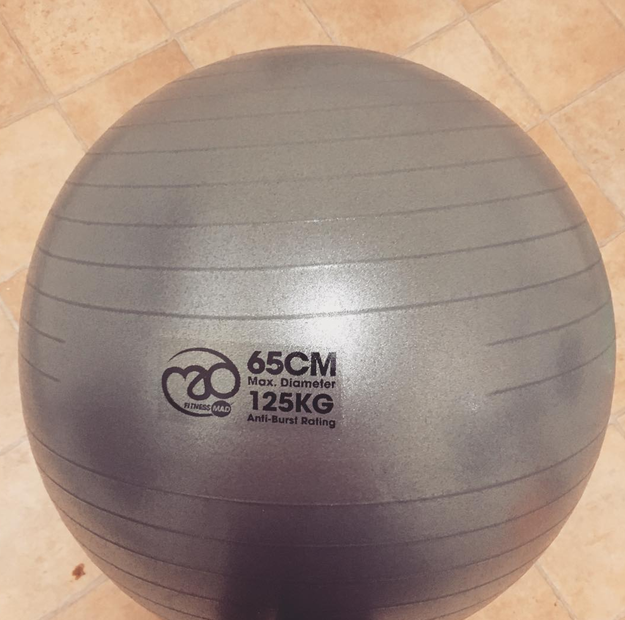 Alleviate back pain with an exercise ball.