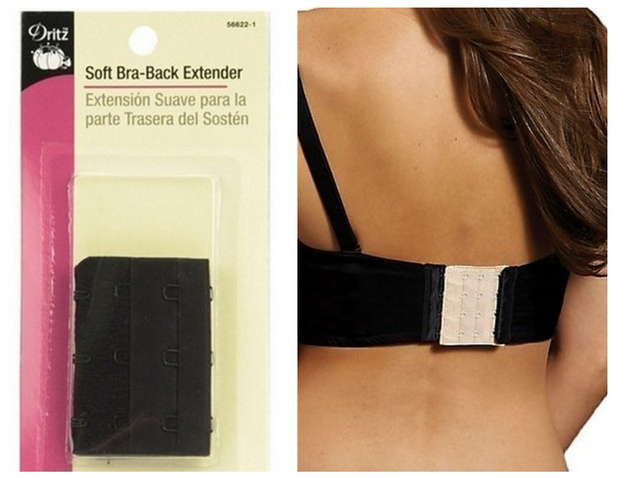 "Buy ""bra-back extenders"" and wear the bras you already own instead of buying maternity bras."