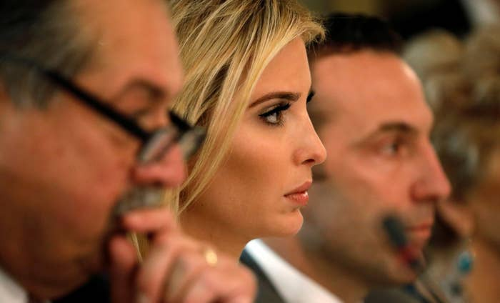 Ivanka Trump attends a meeting held by President Trump with manufacturing CEOs at the White House in Washington, U.S., February 23, 2017.