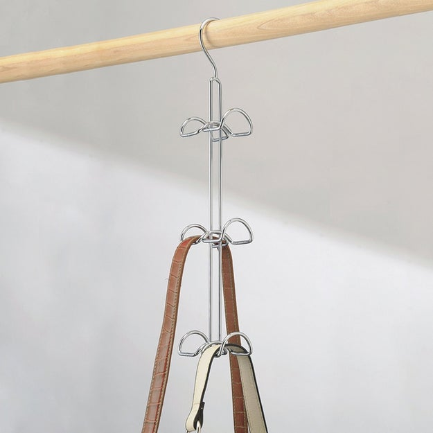 A hanging handbag (or scarf or tie or camisole or belt) organizer for your closet.
