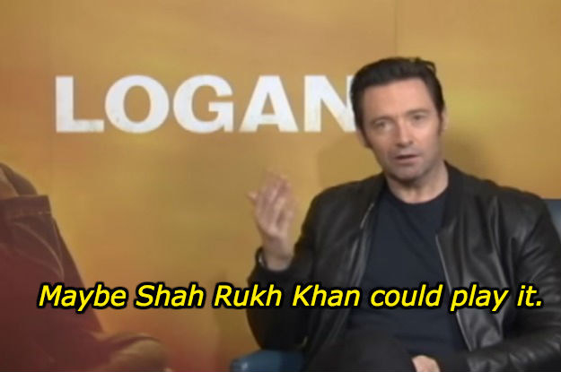 And then he went on to casually nominate Shah Rukh Khan as a candidate for the role.