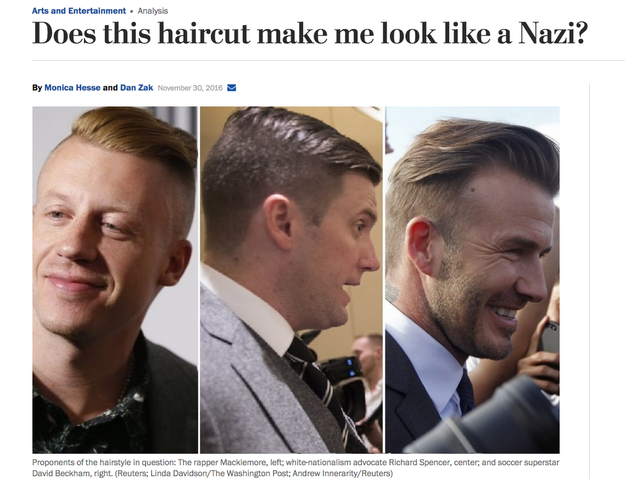 "Multiple media outlets have previously noted that the ""high and tight"" haircut has become popular among male members of the so-called alt-right movement."