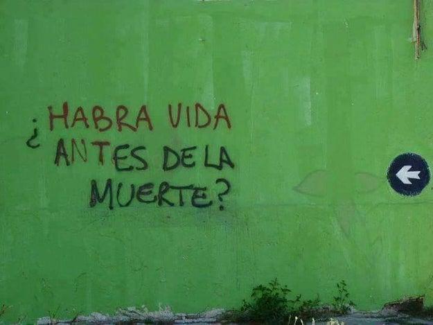 Escribir en la pared es una gran responsabilidad.