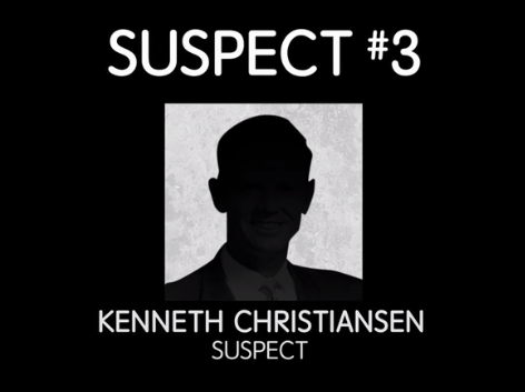 The third suspect is Kenneth Christiansen, whose brother became convinced Kenneth was D.B. Cooper after watching an episode of Unsolved Mysteries.