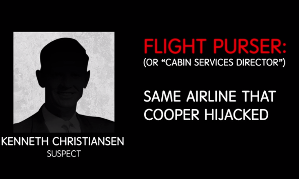 Kenneth was a flight purser for the same airline that D.B. hijacked, which backed some people's theory that it was an inside job. Additionally, Kenneth liked bourbon and purchased a house shortly after the hijacking. The biggest link to Cooper, however, is the fact that when a flight attendant was shown a picture, she said he looked the most like Cooper than any of the suspects she had been shown.
