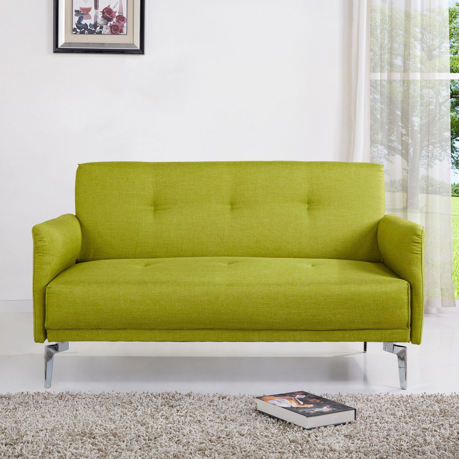 A Modern Sofa That Settles The Debate Once And For All: It Is Easy Being  Green. A Green Loveseat, That Is.