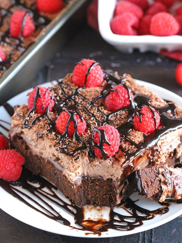 Chocolate Bailey's Poke Cake