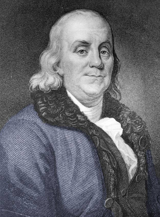 """In 1784, Franklin was living in Paris when his attendant left his bedroom shutters open one night; when a noise woke up him at 6 a.m., Franklin was astonished to see light streaming into his room at such an early hour. Astonished!!!! (Literally, his words.) This led him to wonder why people were burning so many candles at night when they could just get up six hours earlier instead. He estimated that if Parisians got out of bed earlier each day and used sunshine instead of candles, they could save $200 million a year in today's dollars. (This was...a wild exaggeration.) Franklin then put together an """"Economic Project"""" that would encourage people to get up with the sun; it involved a tax on every window that had shutters, a limit on how many candles a family could buy each week, guards that would stop all coaches out after sunset, and ringing church bells and firing cannons (!!!) as soon as the sun rose each day — """"to wake the sluggards effectively and make them open their eyes to their true interest."""" His plan did not take off."""