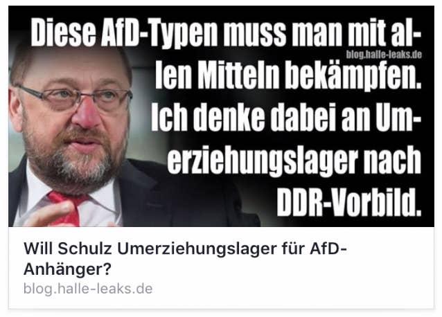"""Ja, Martin Schulz hat in diesem Spiegel-Interview gesagt: """"Diese Typen muss man bekämpfen."""" Aber nein, von """"Umerziehungslagern nach DDR-Vorbild"""" hat Schulz nie gesprochen. Dieses Zitat ist fake."""