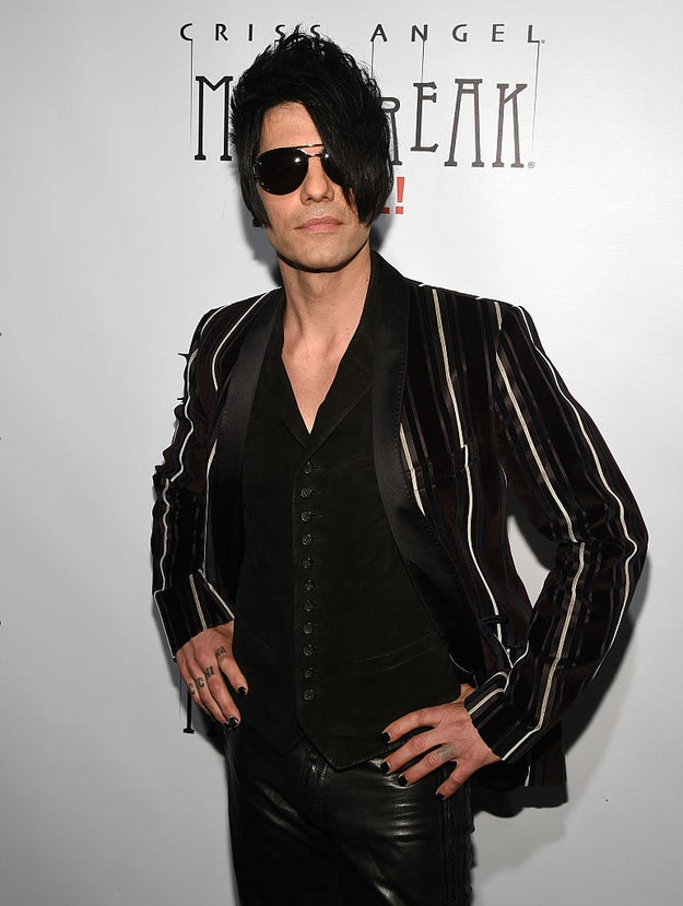 Criss Angel was reportedly rushed to the hospital Friday night after passing out during his signature straitjacket escape trick.