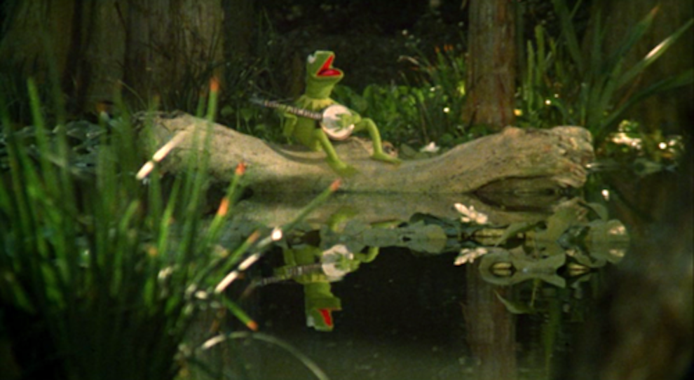 "To record Kermit singing ""Rainbow Connection"" in the swamp for 1979's The Muppet Movie, Jim Henson was put in an underwater canister with a monitor. He was cramped inside it for so long, he had trouble unfolding his limbs after."