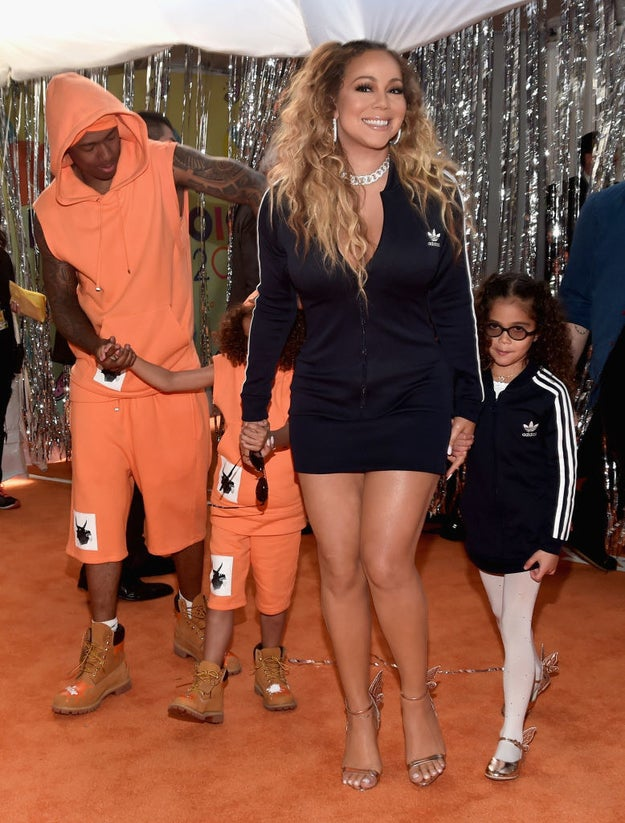 Nick Cannon, Mariah Carey, and their twins, Moroccan and Monroe