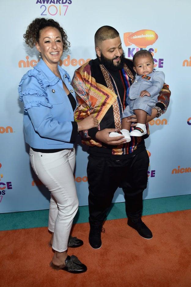 Nicole Tuck, DJ Khaled, and their son Asahd
