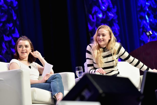 ...which was moderated by none other than the IRL Stark sisters, Sophie Turner (Sansa Stark) and Maisie Williams (Arya Stark).