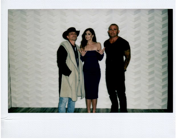 William Callan for BuzzFeed News Prison Break star Robert Knepper, Sarah Wayne Callies, and Dominic Purcell