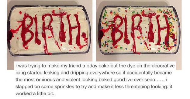 This slightly violent cake: