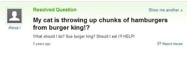 16 hilariously weird food questions people have asked yahoo answers 15 this gross problem reheart Gallery