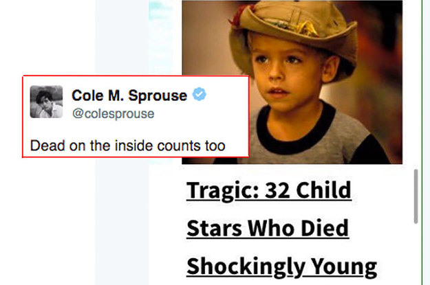 17 Tweets From Cole Sprouse Thatll Make You Laugh Out Loud