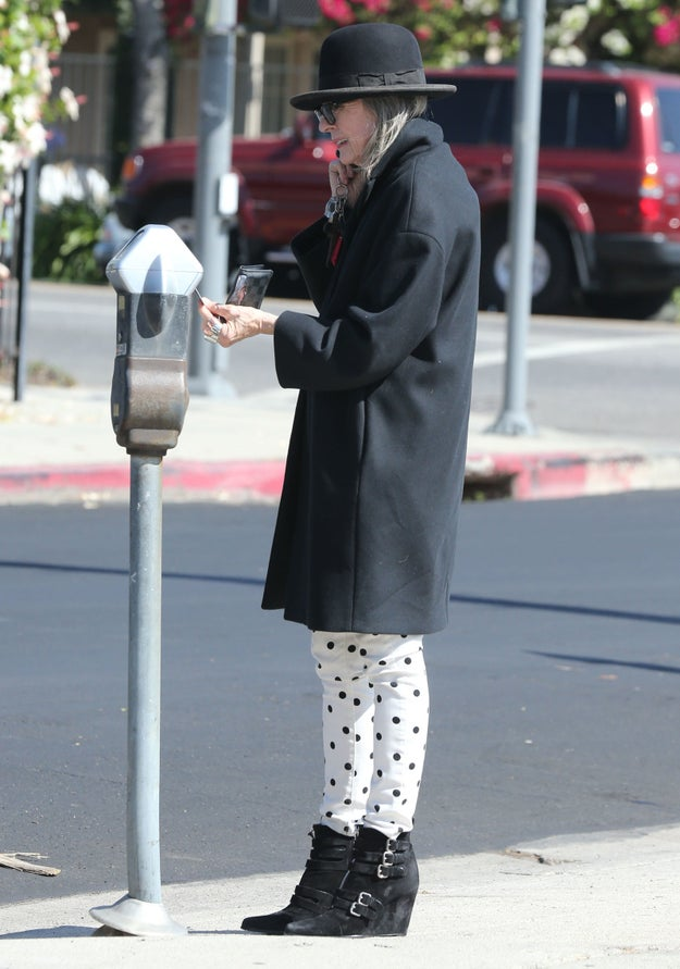 Feed her parking meter.