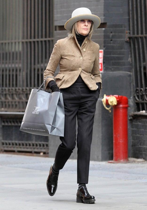 Carry a shopping bag.