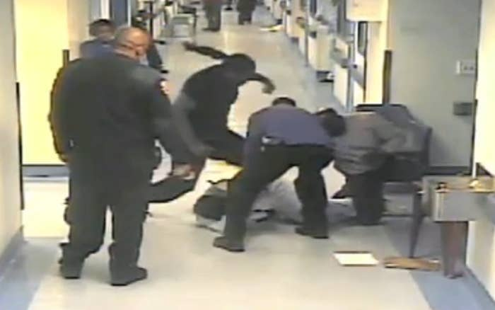 Surveillance video shows a Bellevue Hospital patient being attacked by a staff member. The Justice Center, the subject of a new report from the office of the New York State Comptroller, failed to press charges for more than two years.
