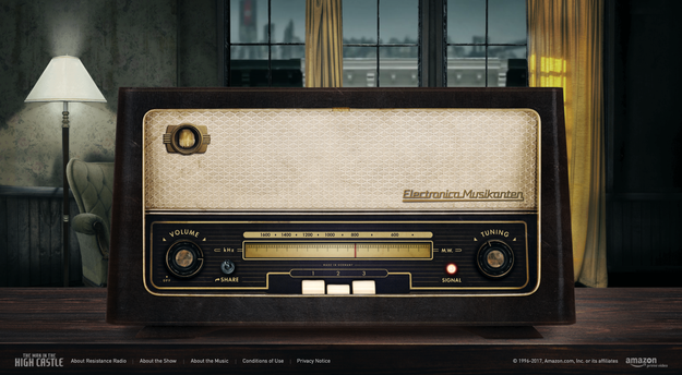 Amazon launched a promotional website this weekend for its series The Man In High Castle called Resistance Radio.