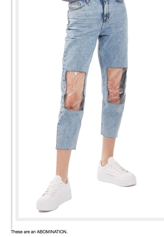 And if anything, these windowpane jeans have blessed us with this incredible thread of Tumblr accounts trying to rack their brains around the concept: