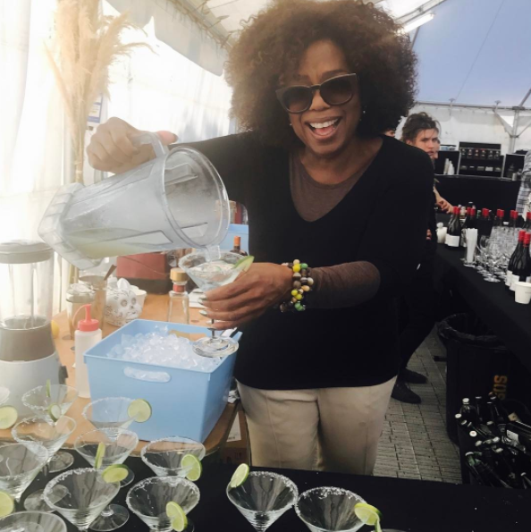 Winfrey even made the cast and crew margaritas at their New Zealand wrap party, because sometimes the world is full of joy.