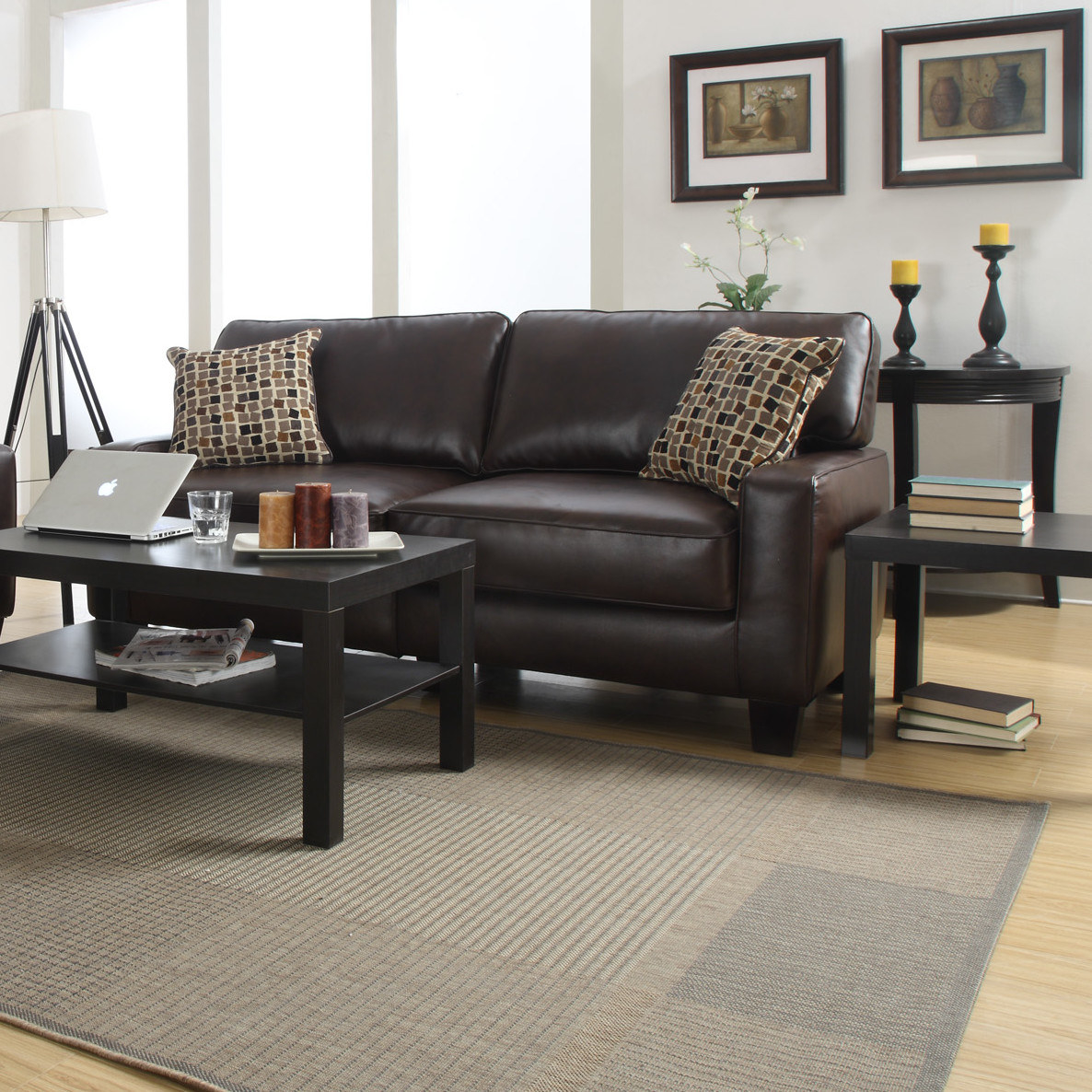 a leather sofa designed with clumsy people in mindaka if you spill something it wonu0027t be the end of the world