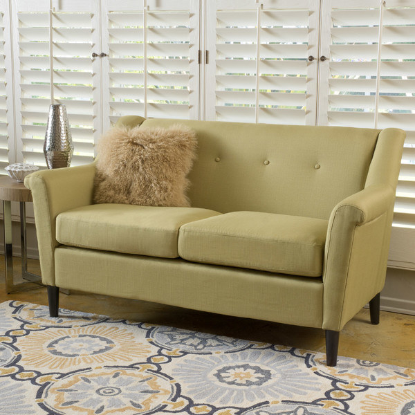 a loveseat with big warm open arms that will comfort you after a long day at to be social