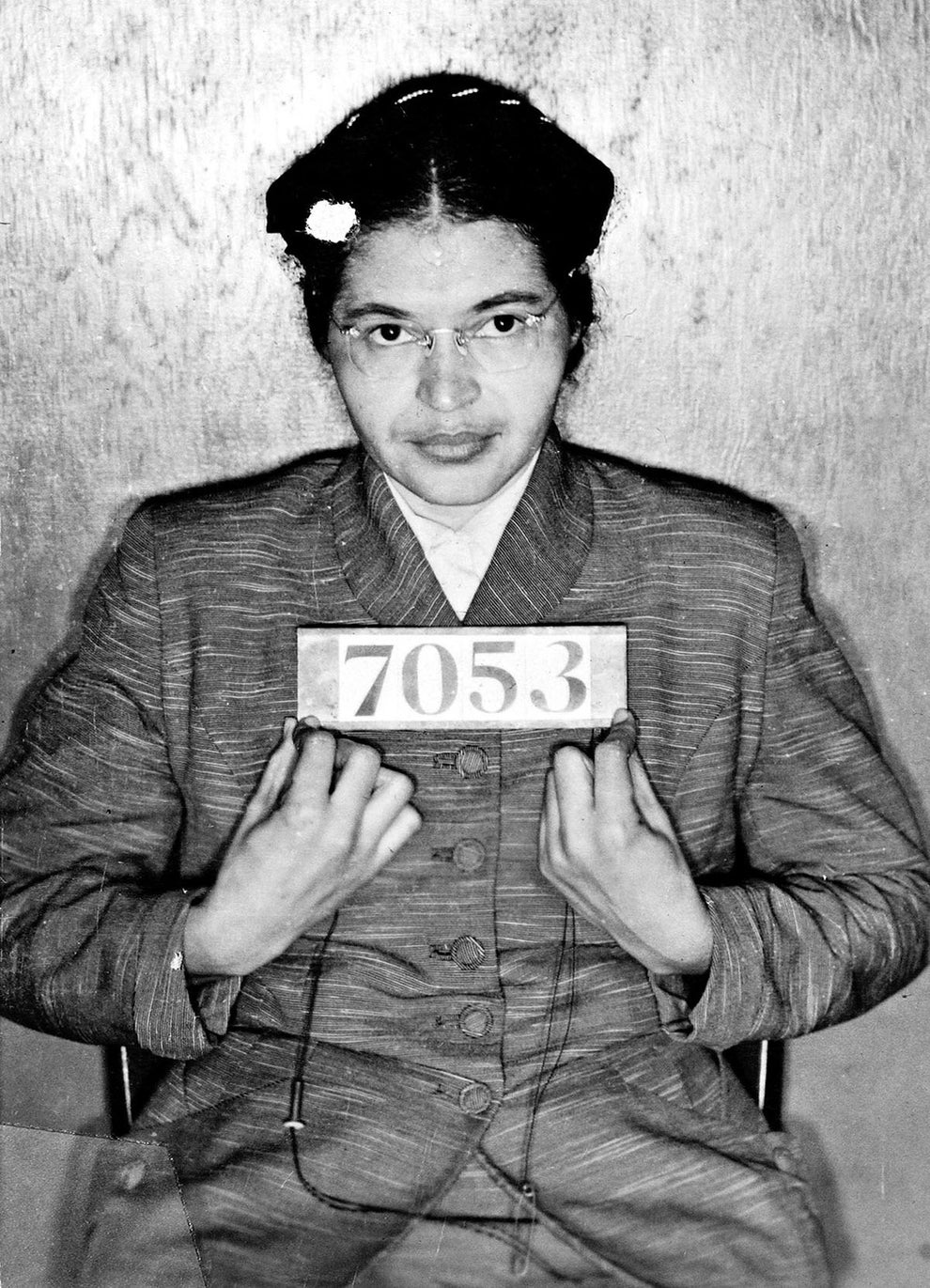 Rosa Parks, activist and icon of American civil rights.