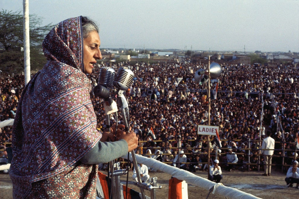 Indira Gandhi, the first and only female prime minister of India to date.