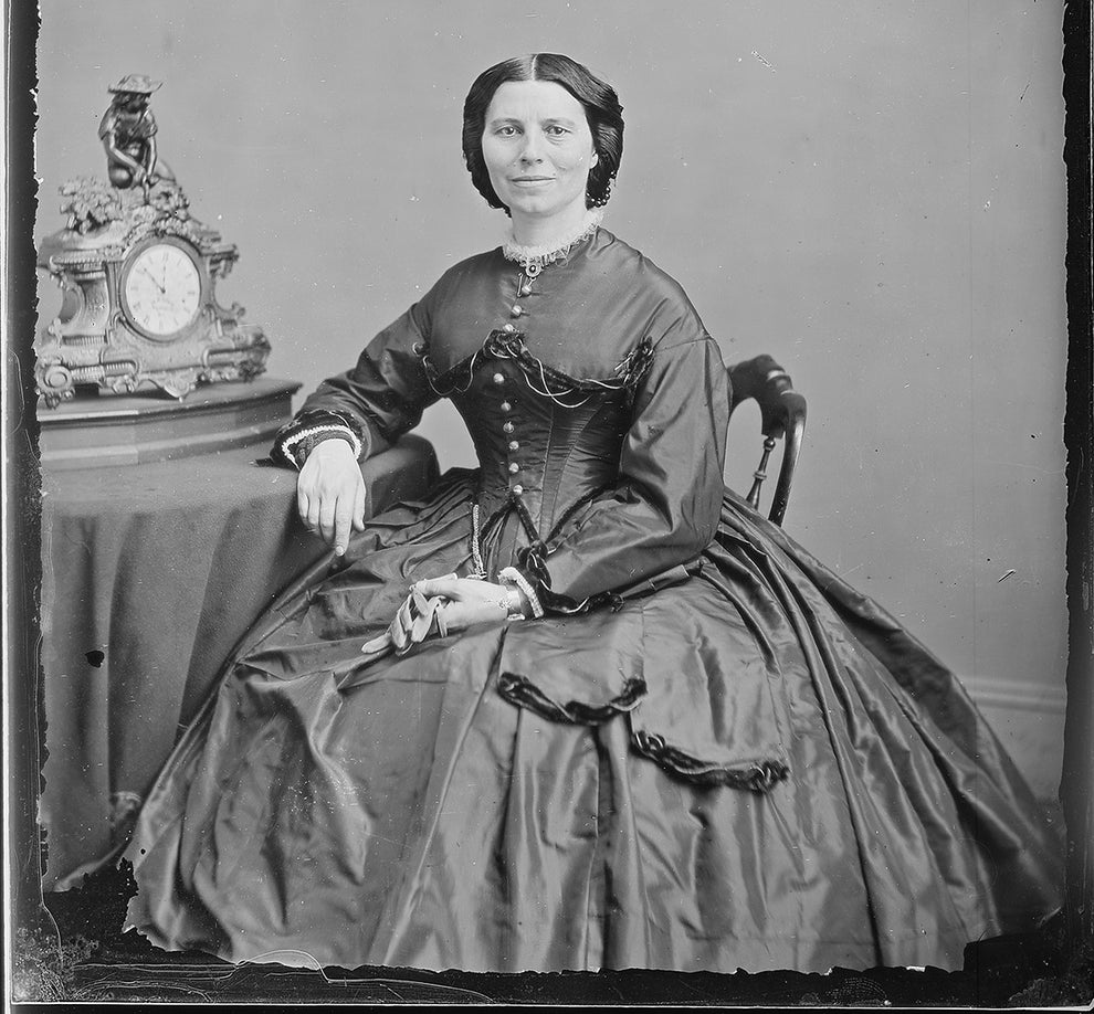 Clara Barton, Civil War nurse and founder of the American Red Cross.