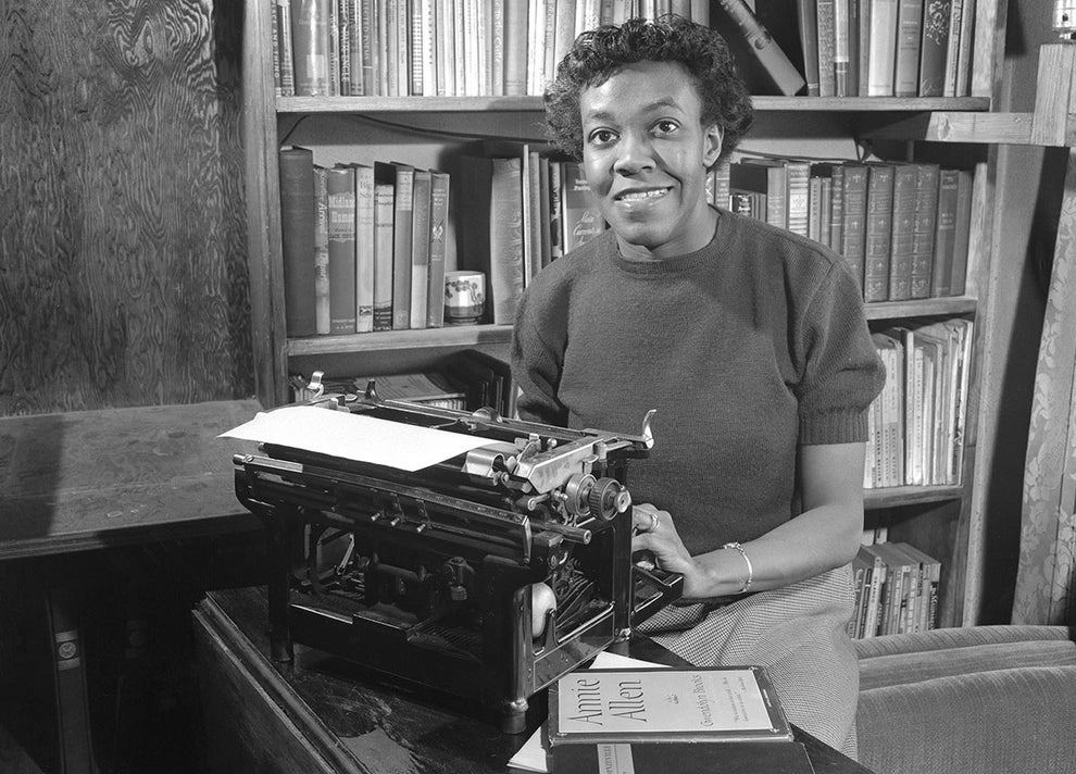 Gwendolyn Brooks, the first black woman to be awarded the Pulitzer Prize for poetry.