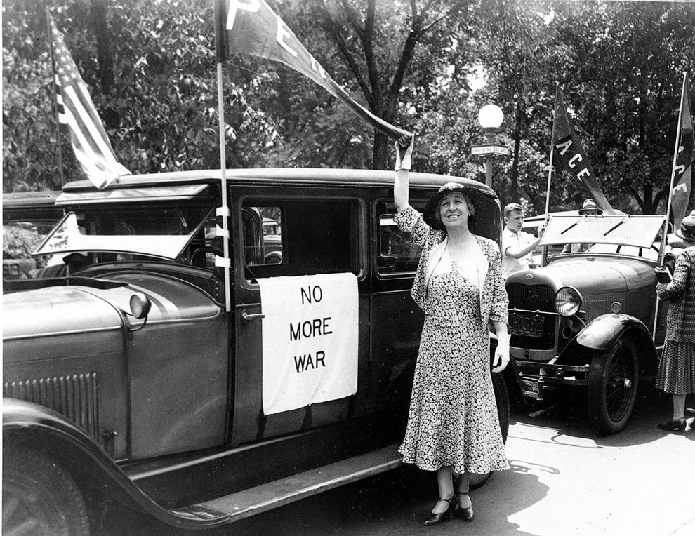 Jeannette Rankin, the first woman to hold national office in the United States.
