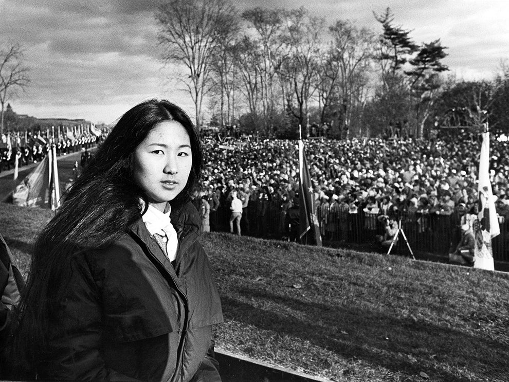 Maya Lin, artist, designer, and architect of the Vietnam Memorial.