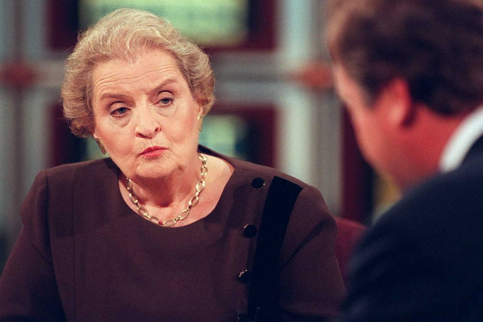 Madeleine Albright, first female US secretary of state.