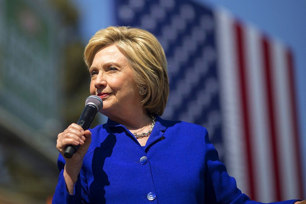 Hillary Clinton, the first female candidate to be nominated for president by a major US political party (2016).