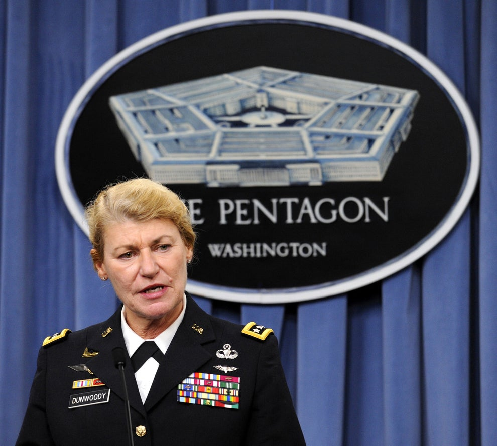Gen. Ann E. Dunwoody, the first woman to achieve the rank of four-star general.