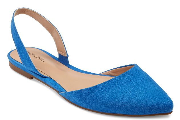 Get them at Target for $20. / Available in women's sizes 5.5-11 and in black.