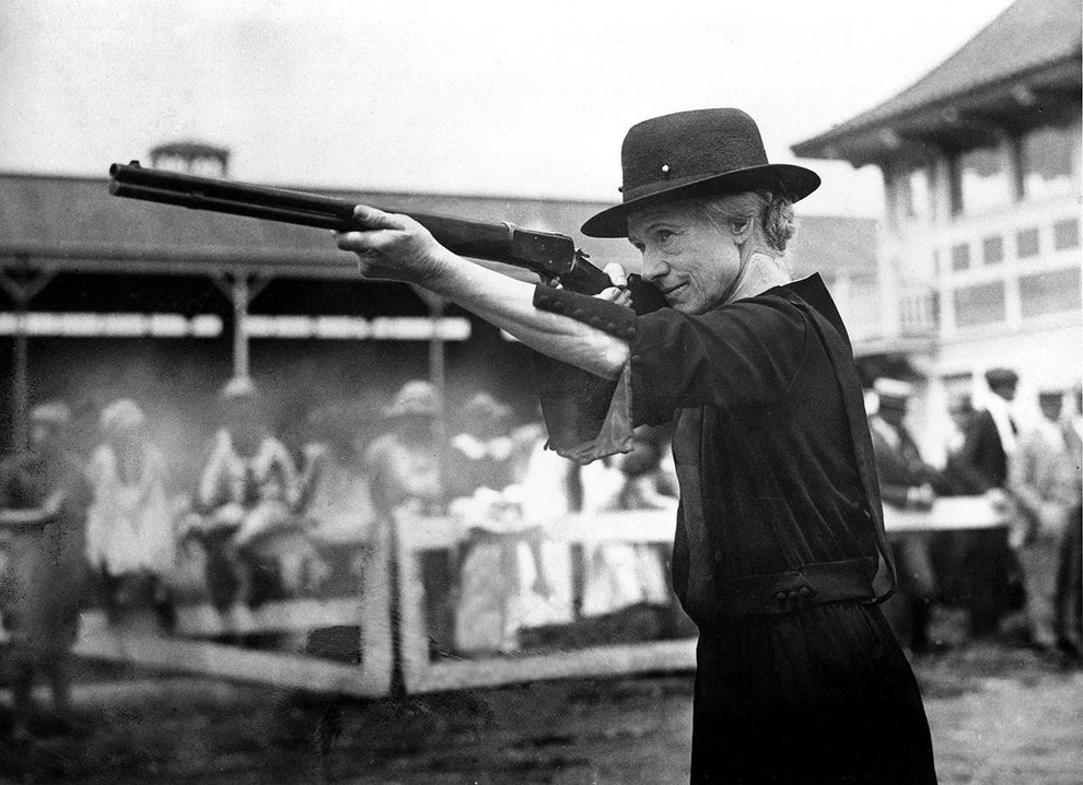 Annie Oakley, prodigy sharpshooter and American icon.