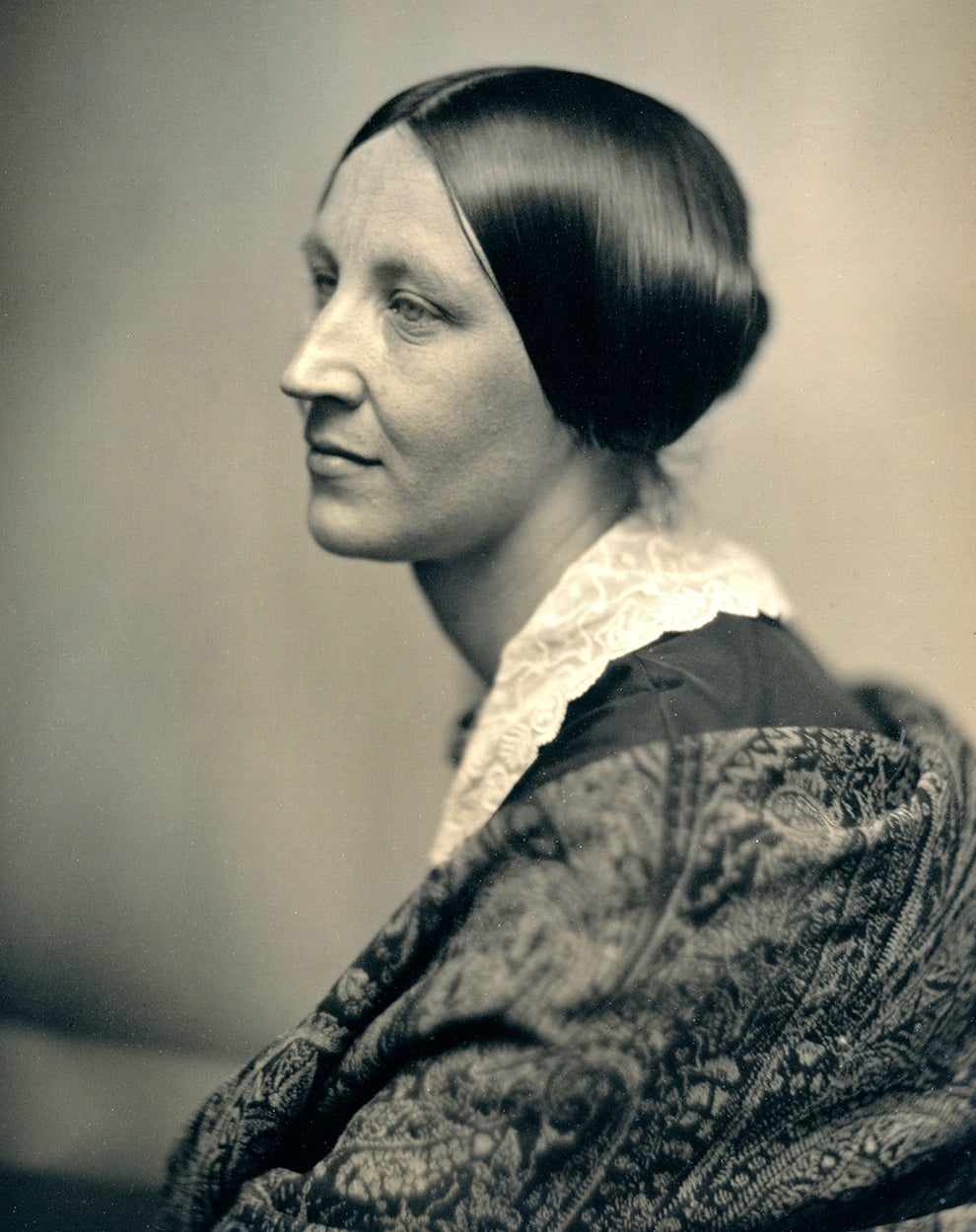 Susan B. Anthony, crusader for the women's suffrage movement.
